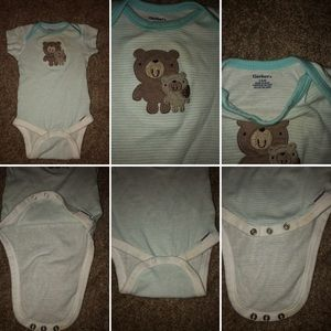 Gerber One Pieces - Set of 2 Gerber 3-6 months infant boy's onesies